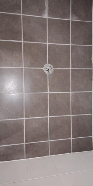 Leaking shower tile floor sealed.