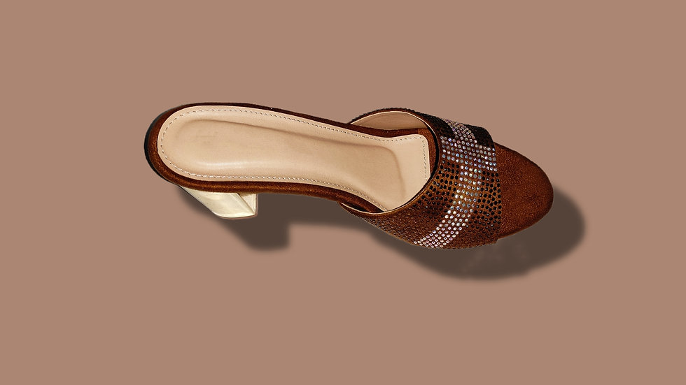 Copper-Silver Heel By The Melo Footwear
