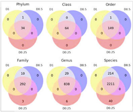 Impact of sequencing depth on the characterization of the microbiome and resistome