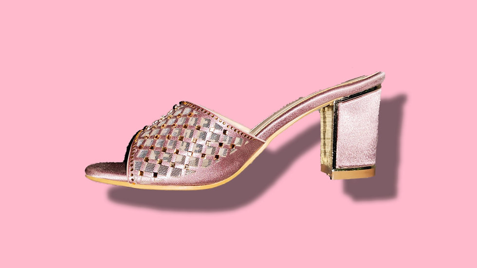 Rose Gold Ethnic Heel By The Melo Footwear (type 2)