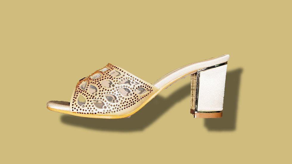Gold Ethnic Heel By The Melo Footwear (type 1)