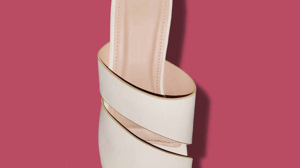 Beautiful Dual Strap Heel By The Melo Footwear