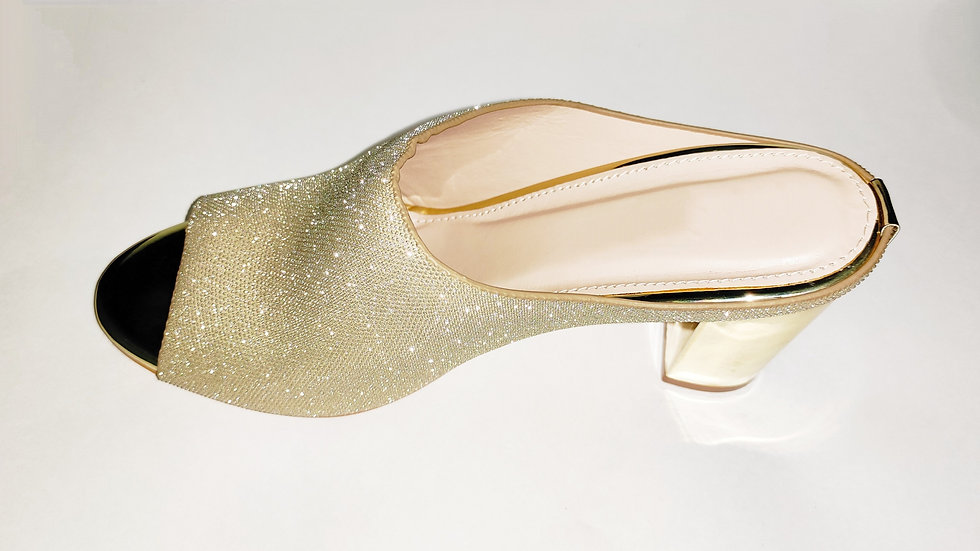 Gold-Toned Handcrafted Luxury Heels By The Melo Footwear