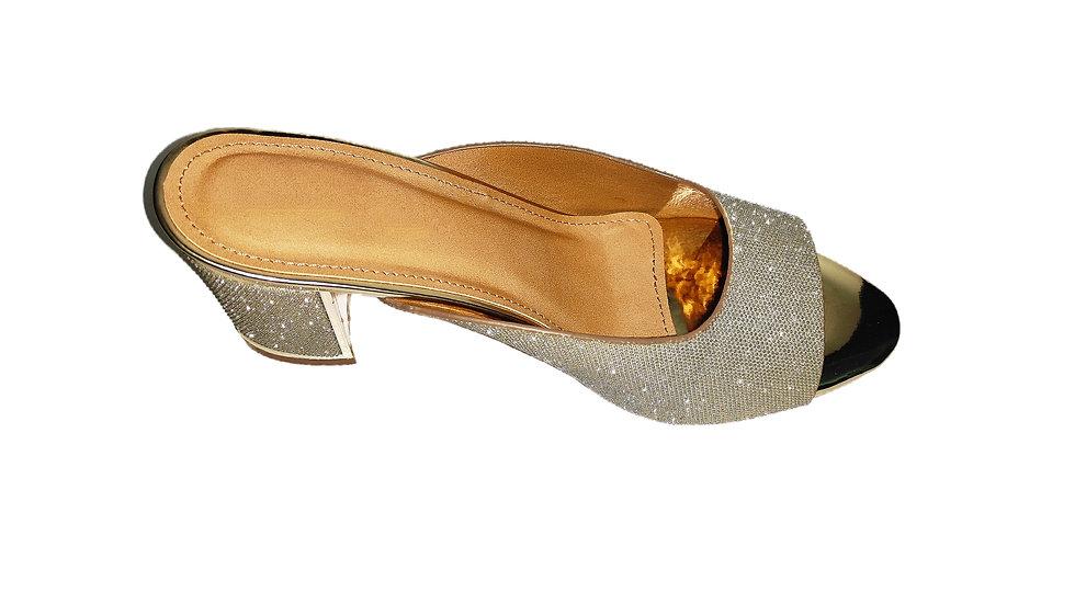 Gold-Toned Luxury Heels by The Melo Footwear (type 2)
