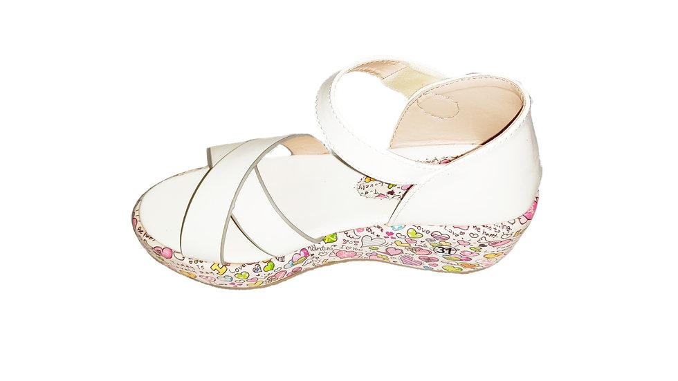 Beautiful Velcro Sandal by The Melo Footwear (stripe design)