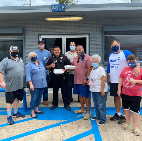 Labor Day food delivery to First Responders