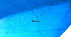 fissure angle coque piscine