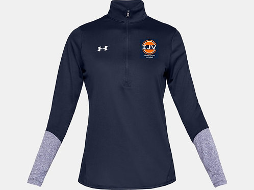 UA Womens Locker 1/4 Zip Navy IJV