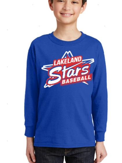 Long Sleeve T Shirt Stars Design