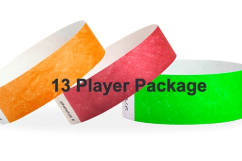 13 Player Package 2 Days