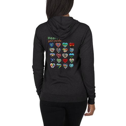 Heart Your Parks - Unisex zip hoodie