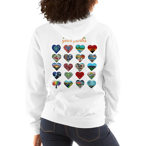 Heart Your Parks! Unisex Hoodie Pullover