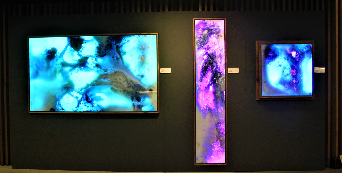 Trio of interactive pieces @Art Not Apart 2019