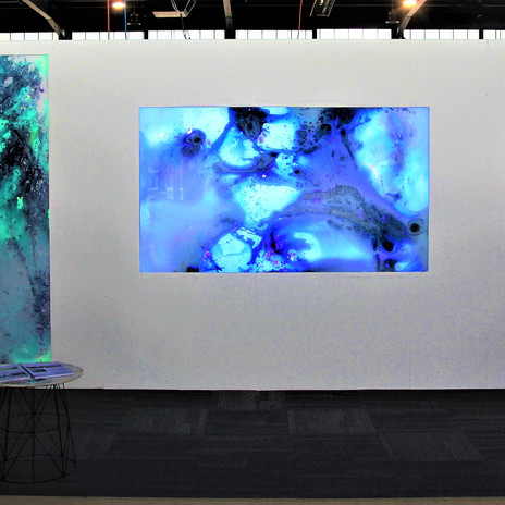 Debut of interactive artoworks @ Showroom Canberra 2019