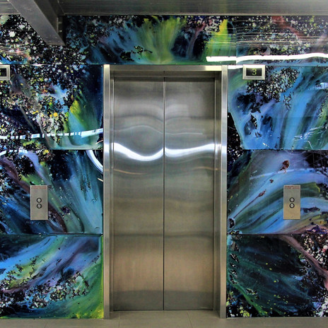 4 Level lift art commission at Citywest Carpark