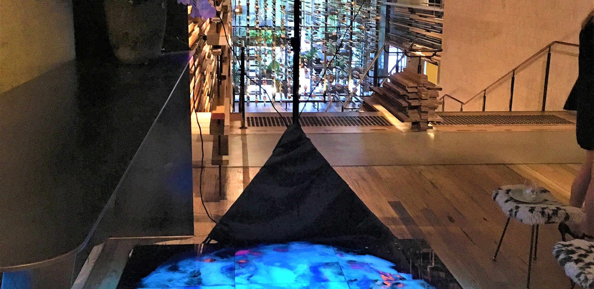 Whirlpool at the top of Nishi Ovolo Grand Stairs