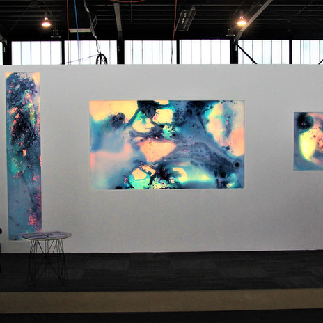 Debut of interactive art pieces at