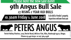 9th Annual Bull Sale - Change of Date - 1st June 2018