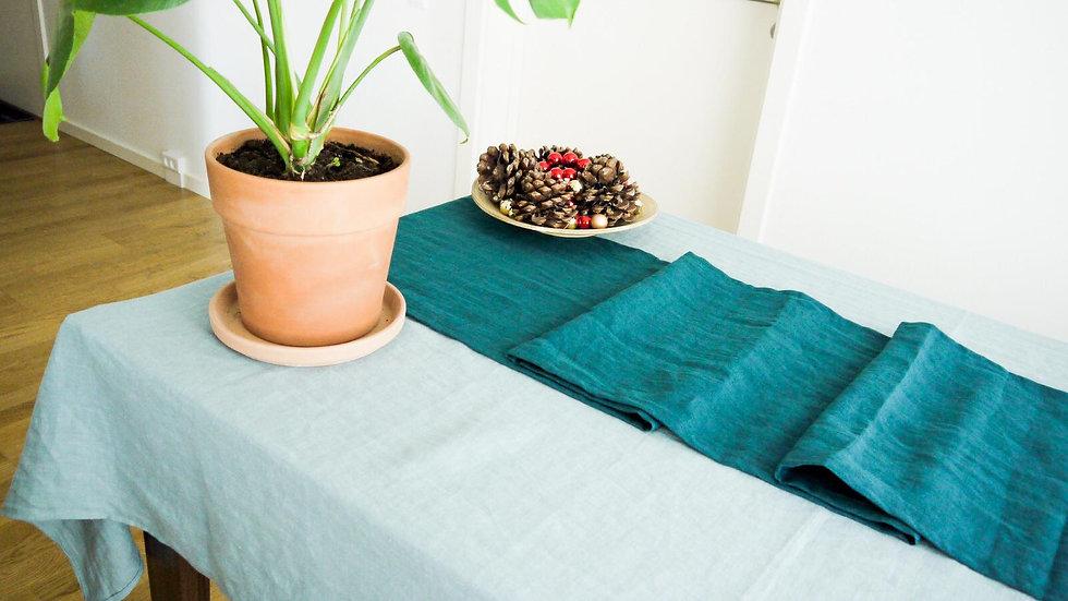 Pure Linen Runner, OEKO-TEX Certified Stonewashed and Handmade