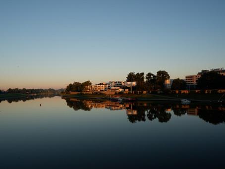 Sunrise at Vistula river