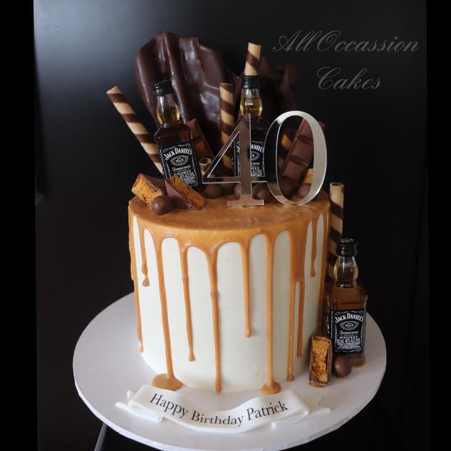40th Caramel JD cake