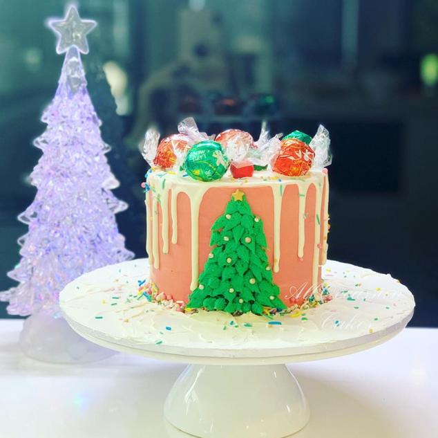 Christmas lindt cake