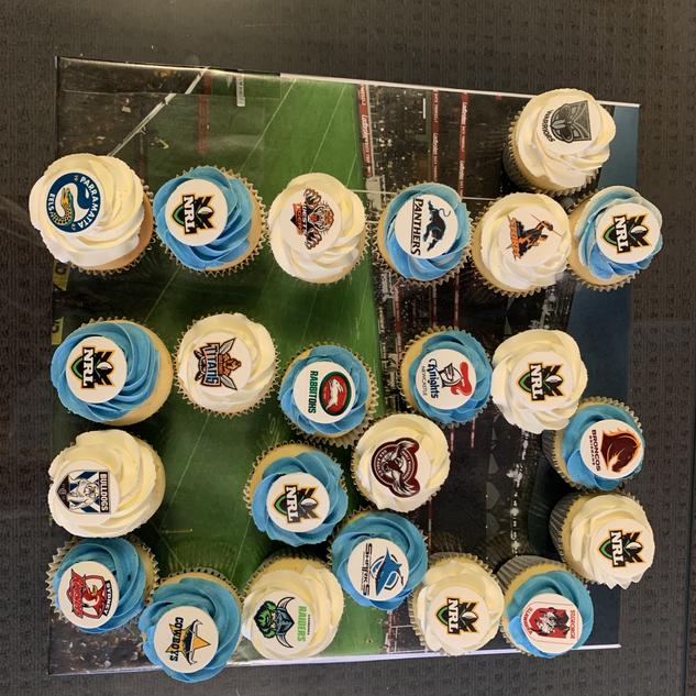 NRL inspired cupakes