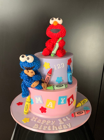 Sesame Street- Pink elmo and cookie monster