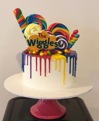 Wiggles drip cake
