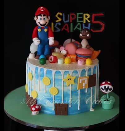 Super Mario drip cake