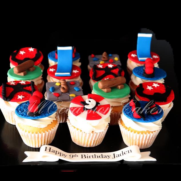 American Ninja Warrior Cupcakes
