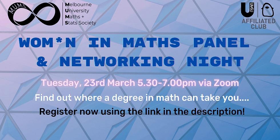 Wom*n in Maths Career Panel & Networking Night