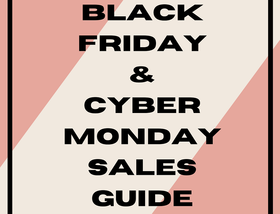 Black Friday/Cyber Monday Sales Guide for Boutiques