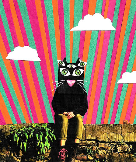 Cat Mask Collage