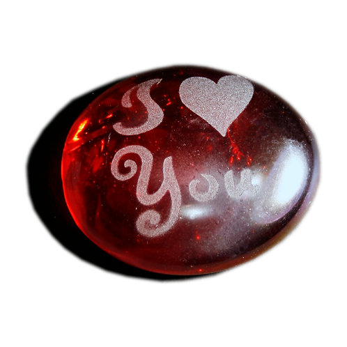 I (heart) You Etched on a JagGem  Code: W322 IR RFGA