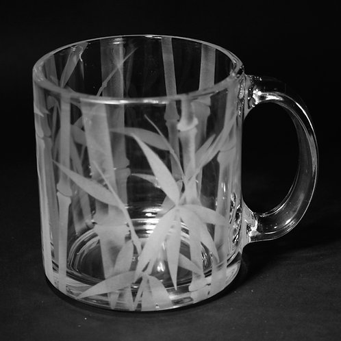 Bamboo Etched on Clear Mug  Code: F040 CL LCMC