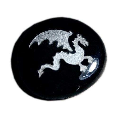 Dragon Etched on a Black JagGem Code: G150 BK RFGA