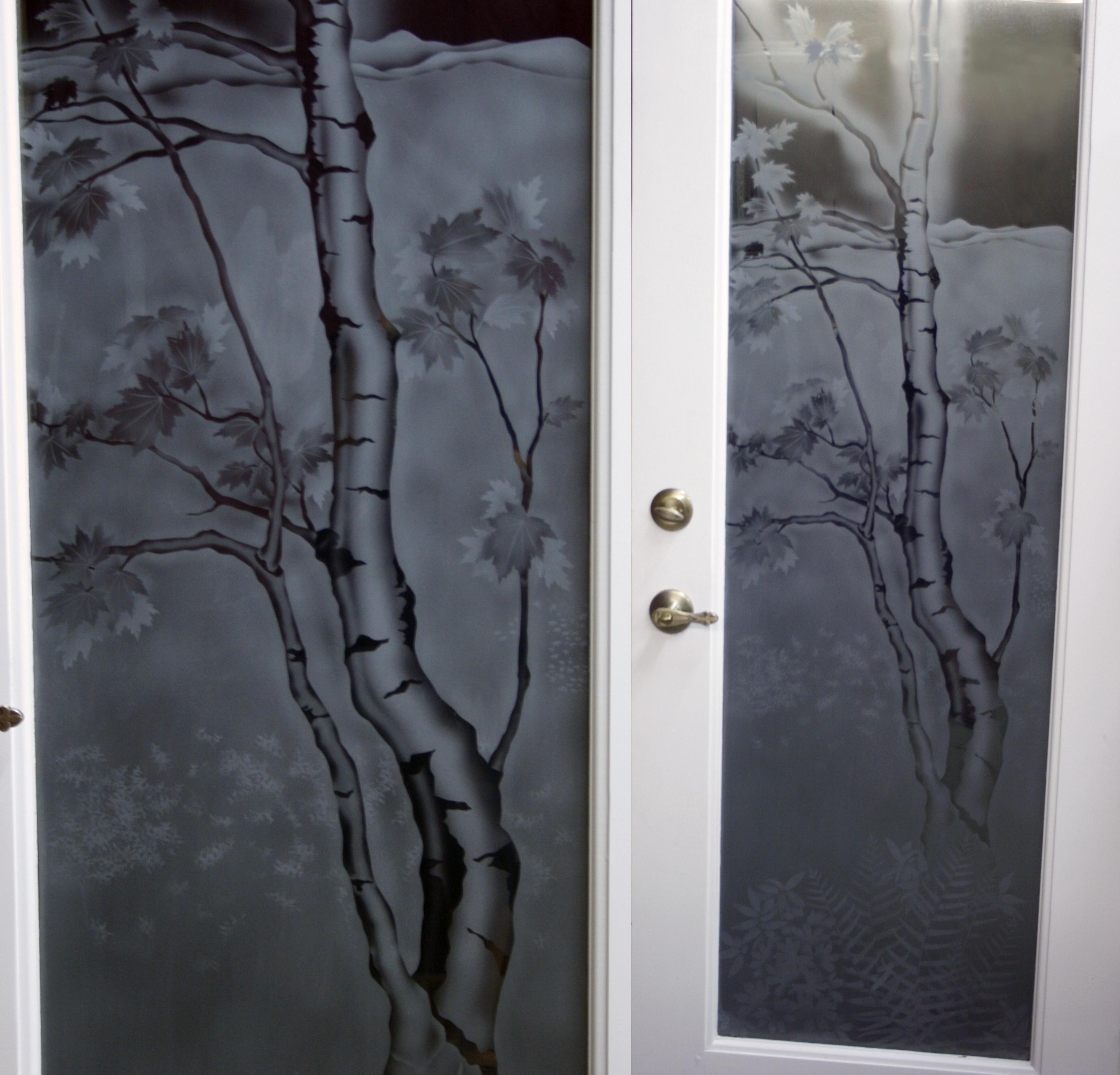 birch tree side by side