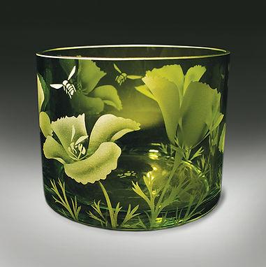 Etched Glass, Jaguar Art Glass, Eugene
