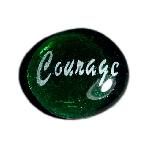 Courage Etched on a Green JagGem Code: W096 GR RFGA