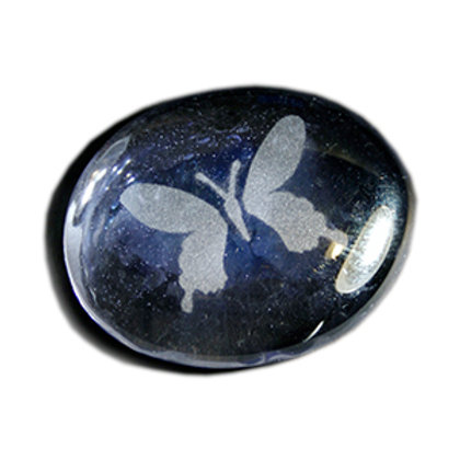Butterfly Etched on a Iridescent Amethyst JagGem Code: G050 IA GFGA