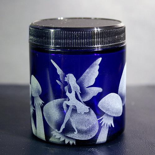 Fairy Mushroom Cobalt Blue Medium Jar  Code: M252 CB SJMB