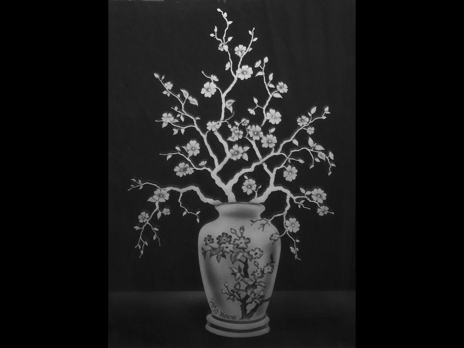 vase cherry blossom