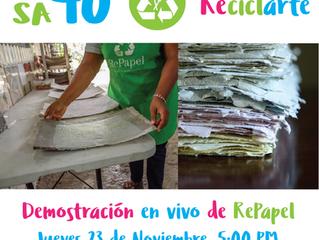 Demostración de Reciclaje de Papel