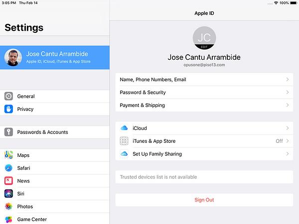 iPad iCloud Settings.png