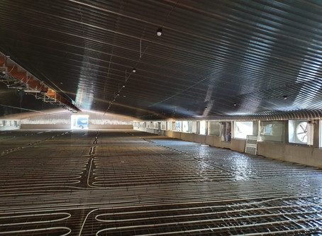 Underfloor heating at Poultry Farm in Shropshire