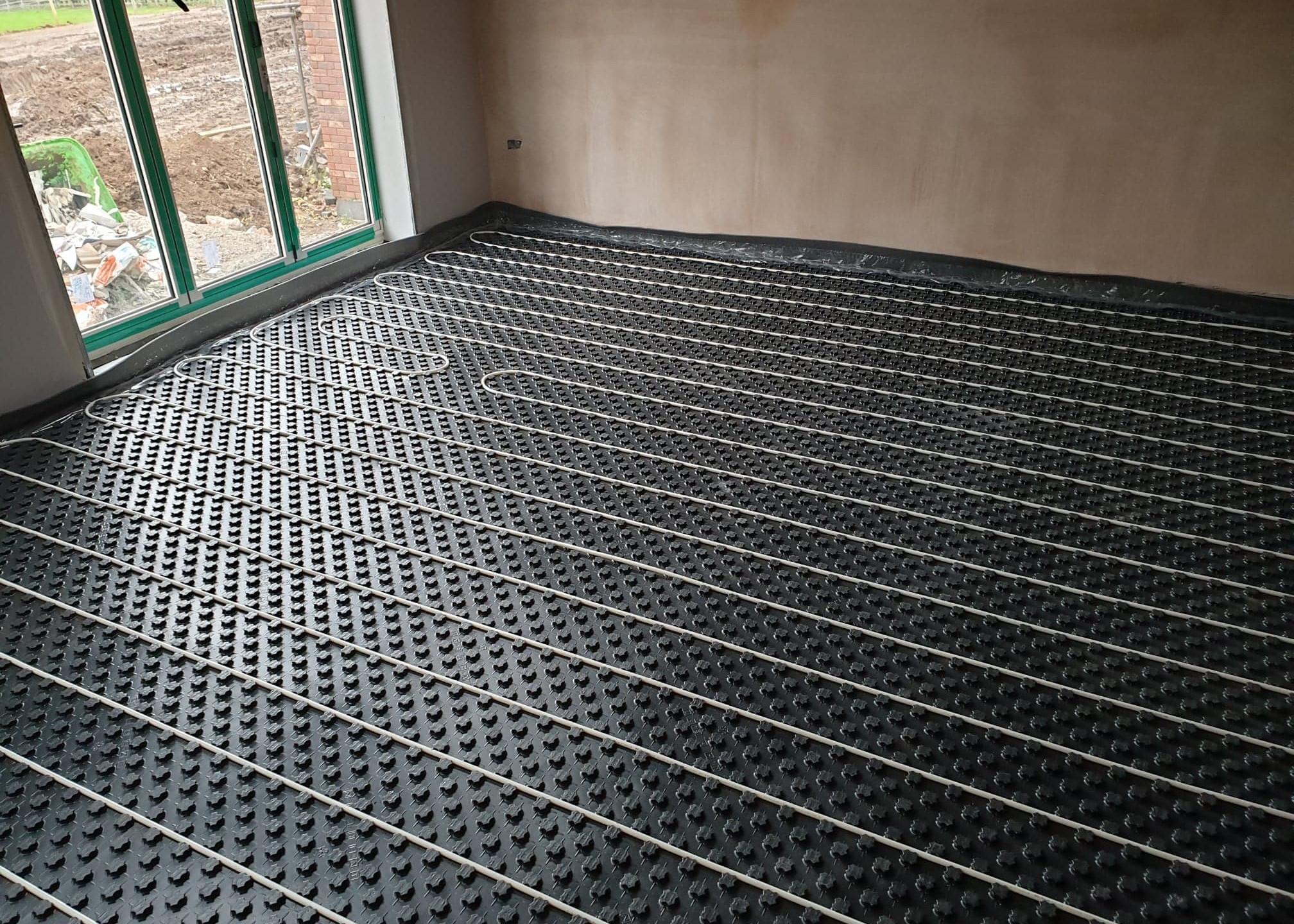 New underfloor heating in new build Shropshire home