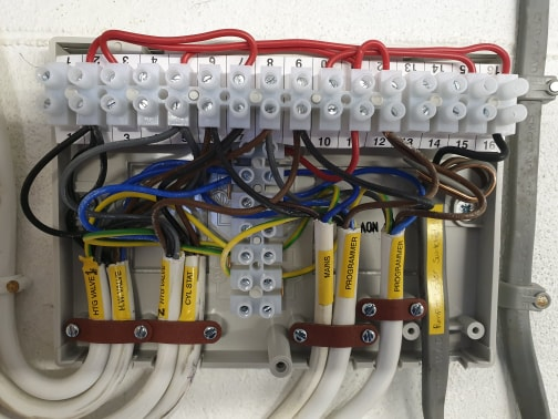 Wiring centre as part of multi-zone thermostat installation