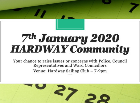 Date for 2020 Diary