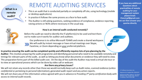 Remote Auditing Services